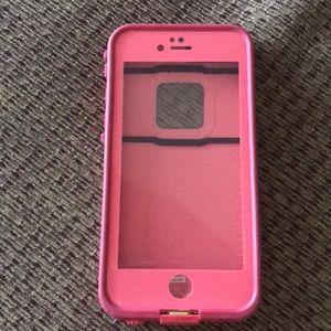 Pink IPhone 6/6s Lifeproof Waterproof Phone Case